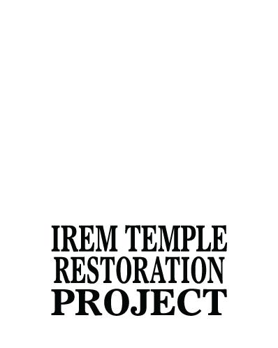 Irem Temple Restoration Project Reverse Logo